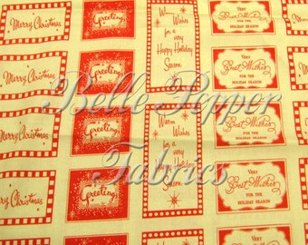 "Dear Mr. Clause Santa Red Seasons Greetings, 1 Yard 3"" panel"