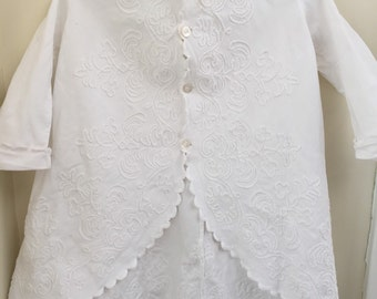 Beautiful 1880s vintage victorian childs frock