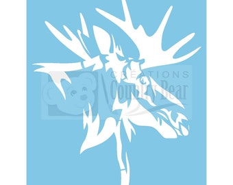 Stencil -  Moose Head -   ST-076
