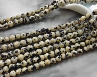 3 Full strands 4 mm 6mm dalmation jasper round  beads wholesale for exclusive jewelry