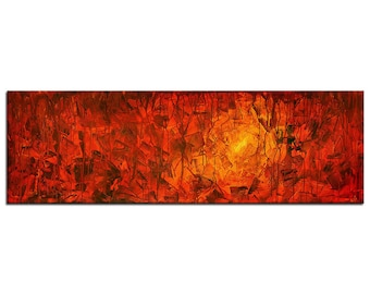 """Acrylic, abstract red painting, Original Art by AG : """"7 SCHATTEN"""", Gallery of modern & contemporary  Art The Artmakers"""