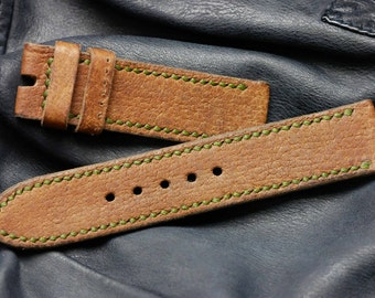 24 mm vintage Ammo strap watches bracelet Leather for rock hard, Panerai, Helson, etc.