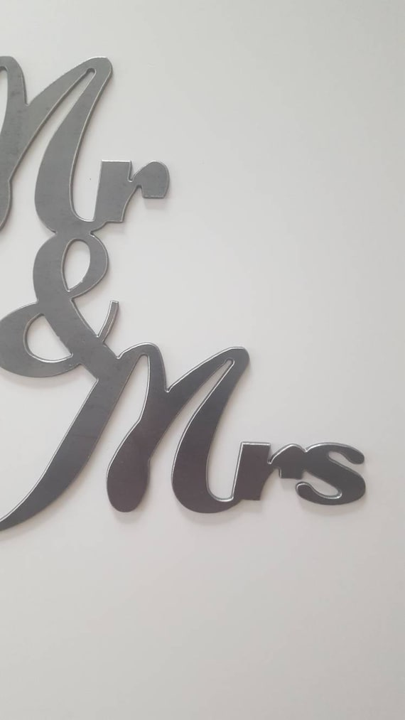 Metal wall art mr and mrs sign wedding decor metal wedding sign metal mr and mrs metal sign home decor ready to ship