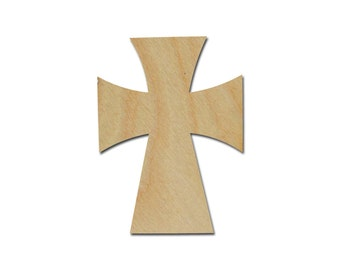 "Unfinished Wood Cross Wooden Craft Crosses Cutout Stainable Paintable part C11-125    11"" inch"