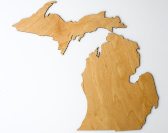 State Shape Map Cutout - All 50 States - and Full United States - Wooden Wall Art Decor