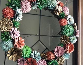 Pinecone Wreath - Blushing Bride