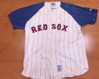 Vintage 90s Boston Red Sox Ted Williams Jersey russell martinez ortiz schilling varitek lowe garciaparra clemens boggs rice ramirez damon
