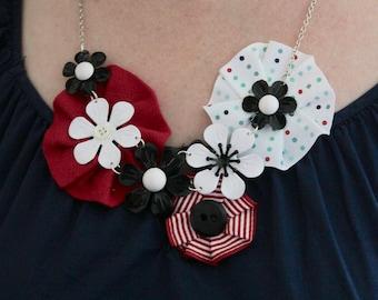 flower rosette necklace