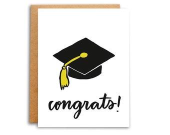 Congrats Graduation Cap Card