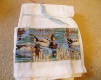 Flour Sack Dish Towel/Mallard Ducks