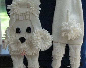 Poodle - Scarf Pattern - Dog Scarf - Fleece Scarf - Poodle Pattern - Sewing Pattern