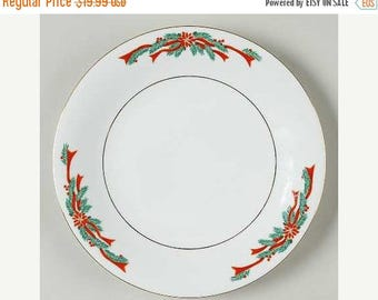 ON SALE Fine China POINSETTIA u0026 Ribbons Lot of 4 Salad Plates Dinnerware Matches Tienshan Lot of 4 Salad Plates 7 1/2  Excellent Condition  sc 1 st  Etsy & Poinsettia plate | Etsy