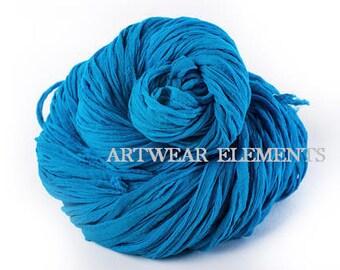 Chiffon Sari Silk, Blue Chiffon, Fair Trade, 5 Yards, Silk Ribbon, Silk Textile, Textile, Art Yarn, Ribbon, Silk, Artwear Elements, #115