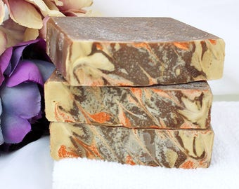 Vanilla Nutmeg Soap - Cold Process Soap - Artisan Bar Soap - Homemade Soap - Vanilla Soap - Gift Ideas - Brown Soap - Warm Soap