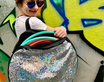 Shiny Sparkly Disco Travel Hula Hoop Bag