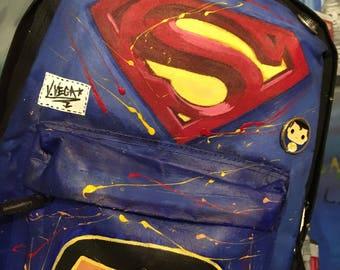 Superman backpack art