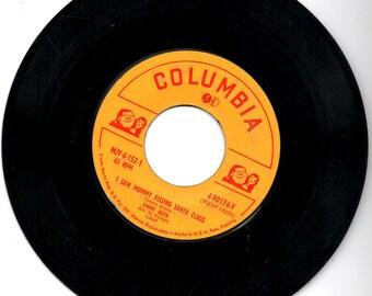 Columbia 'I saw mommy kissing Santa Claus' 45 rpm record, Boyd