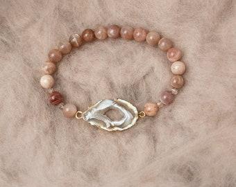 Geode & Sunstone Bracelet