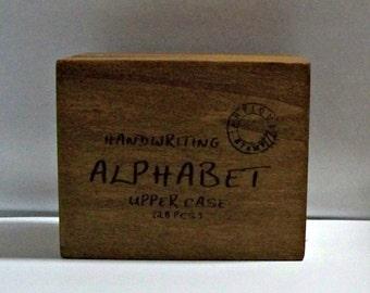 Maya Road Handwriting Alphabet Uppercase Stamp Set