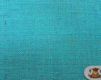 """Burlap Jute TURQUOISE Fabric / 58"""" / Sold by the yard"""