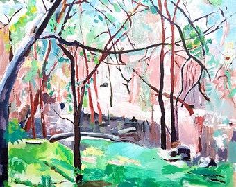 Landscape of Australian Bush, 60.5 x 60.5 cm, Acrylic on canvas.