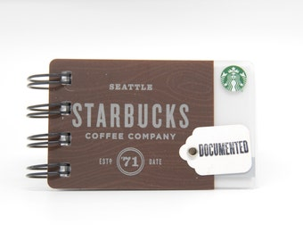 STARBUCKS Notebook - Gift Card Covers front and back