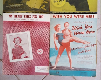 Vintage Sheet Music 8 PAK