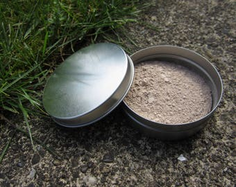 Translucent face powder for light skin, 50 grams, 25% zinc oxide, plastic-free, zero waste, vegan, non-comedogenic