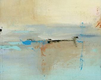 Abstract Landscape Painting, Contemporary Painting, Original 12Hx9W Painting - 9x12 Painting Art Coastal Decor, Wall Decor, Beach Decor