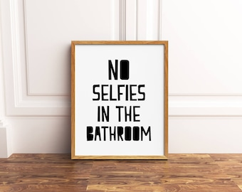 Bathroom Printable, Funny Bathroom Art, Funny Bathroom Signs, Instant  Download Bathroom Decor,