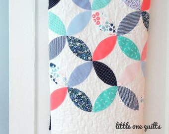 Orange Peel Memory Quilt | Baby Clothes Quilt | Modern Memory Quilt