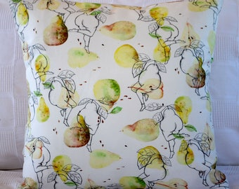 Yellow and Green Pear Bum Cushion Covers