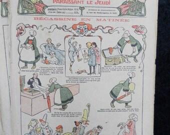Bleuette 1911, sewing patterns, antique doll patterns, la semaine de suzette 14 numbers FRENCH LANGUAGE(ref 182)