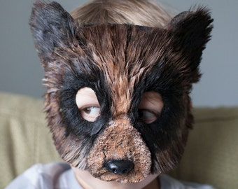 Child Size Brown Bear Mask Grizzly Bear Mask, bear costume, animal mask, animal masks,  child costume, Halloween, goldie and bear costume