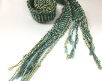 Summer Greens Crios- Traditional Irish Handwoven Belt