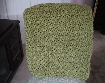 Apple Green Afghan, Throw Blanket, Sofa Throw, Crocheted Afghan, Crocheted Throw, Housewarming Gift, Hostess Gift