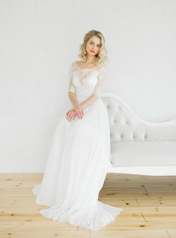 Weiße Vintage-Stil Brautkleid
