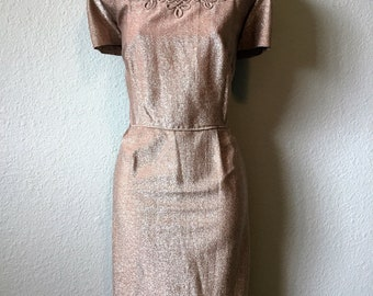 1950s lurex dress