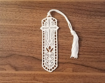 Cross Bookmark; FSL Bookmark; Lace Bookmark