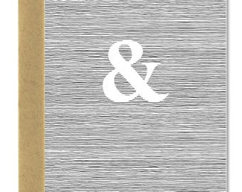 Ampersand Wedding Card - A1 Card (Single or Set of 5)