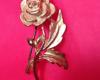 Rose White Retro Costume Brooch - Vintage Rose Blossom Pin