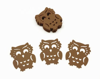Owl Confetti, Hand Punched Owls, Table Top Confetti, Owl Theme, Party Decor, Owl Decoration, Owl Cardstock, Brown Owls, 30 Count