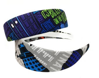DOCTOR WHO INSPIRED headbands - 2 styles - Daleks or bigger on the inside - your choice