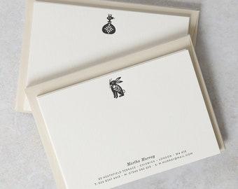 CUSTOM Letterpress Notecard Set (50)