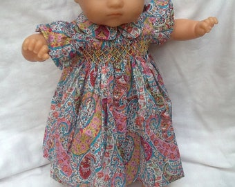 Liberty Bourton dress has smocked doll 36 cm