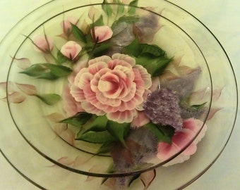 Wisteria Rose Dinner and Salad Plate Set