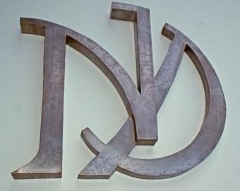 Custom Metal Letters N and D