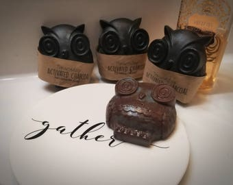 Activated Charcoal Owl Soap