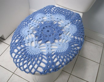 toilet seat lid covers. Crochet Toilet Seat Cover Or Tank Lid Cover  Light Periwinkle Blue TSC9G Seat Etsy