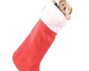 Hemp Christmas Stocking, organic cotton trim, eco friendly vegan alternative gifts